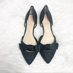 Pointed toe black lace Loire flats Ivanka Trump 8